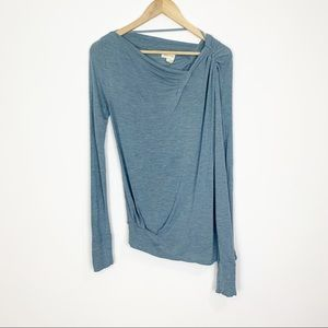Meadow Rue | Blue Long Sleeve Top Size Small